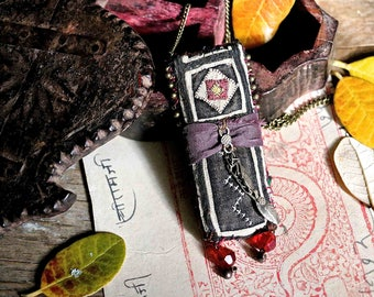 """necklace ethnic pendant : """"on the black mountains"""""""