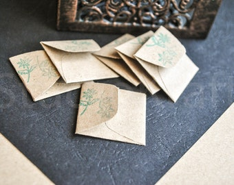 Mini envelopes | Very small paper envelopes | Teeny tiny envelopes | Handmade paper mini envelopes | small envelopes for messages, notes