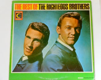 "The Best of The Righteous Brothers - ""For Your Love"" - ""Bye Bye Love"" - Original Mono Moonglow Records 1966 - Vintage Vinyl LP Record Album"
