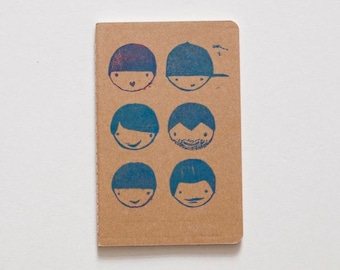Plain Cahier journal with stamps illustrations