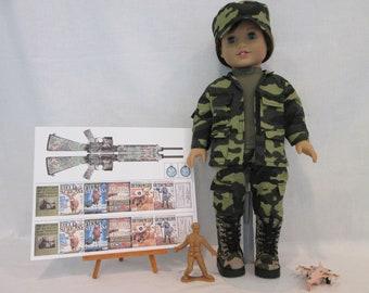 Army Combat Uniform for 18 inch dolls