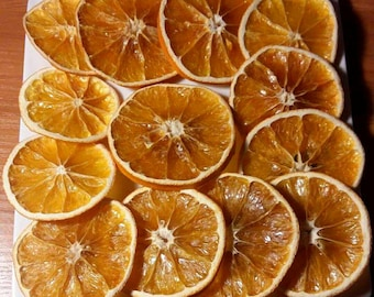 Set of 20 dried slices orange dried decorative