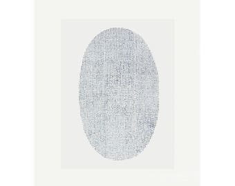 Minimal original art, screenprint in grey and cream on fabriano by Emma Lawrenson
