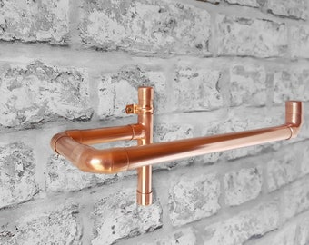 Modern Hand Towel Hanger, Pipe Hand Towel Rack, Copper Pipe Bathroom Decor, Hand Towel Holder, Home Gift
