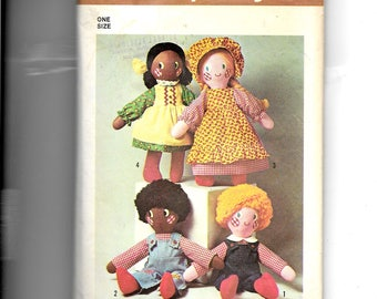"""Simplicity Dolls and Clothes 20"""" High Pattern"""