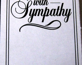 With Sympathy  Embossing Folder