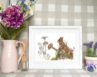 Red squirrel and mouse 'Forest friends' Limited edition print