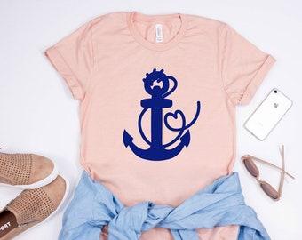 anchor - graphic tee - nautical - women - beach- tshirt - boat - girlfriend gift - tank top - gift for her