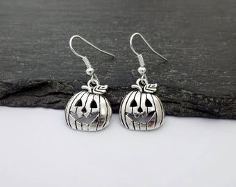 Pumpkin Earrings, Charm Earrings, Halloween Earrings, Pumpkin Jewellery, Halloween Jewellery, Halloween Jewelry, Pumpkin Jewelry