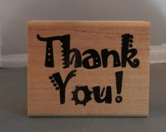 Thank You ! Rubber Stamp