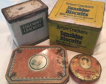 Vintage Tins Collection of 4