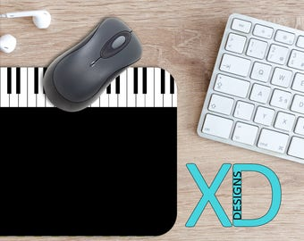 Keyboard Mouse Pad, Keyboard Mousepad, Piano Rectangle Mouse Pad, Black, White, Piano Circle Mouse Pad, Keyboard Mat, Computer, Music