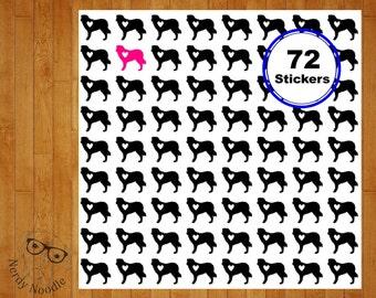 Labradoodle Planner Stickers, 72, Labradoodle Stickers, Labradoodle Sticker Set, Labradoodle Envelope Seals, Dog Stickers, Labradoodle