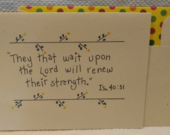 Isaiah 40:31 Card, Scripture Card, Waiting on the Lord card, Renewed Strength card, Inspirational Card, Inspiration Message, Wait on God