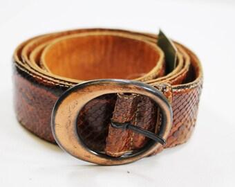 Brown Snake Skin Belt