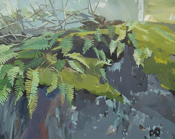 Green Boulder - limited edition print