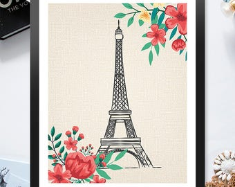 Instant Download Printable Paris is Always a Good Idea Eiffel Tower 8x10 inch Poster Print - P1008-1