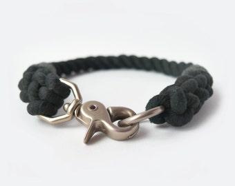Custom Army Green Rope Dog Collar