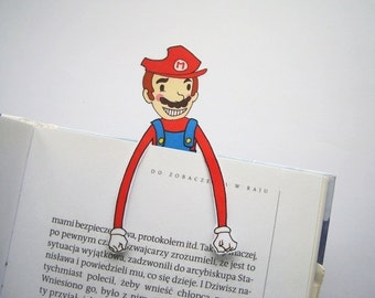 Super mario bros printable bookmark birthday party gift for him for her