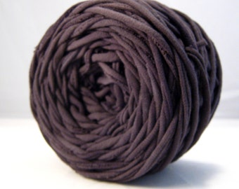 T-Shirt Yarn Hand Dyed- Black, Slate, Black Yarn, Black T shirt Yarn, Black Cotton Yarn, 60 yards, Chunky Yarn, Jersey Yarn