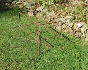 Vintage Rusty Angle Iron Table Frame Farm Fresh Barn Find!!