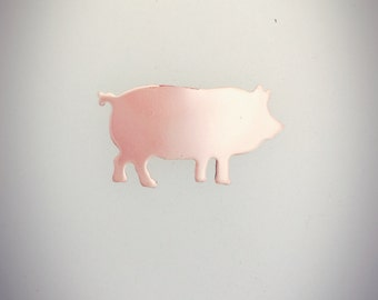 Raw Copper Pig Blanks-Animal Shapes-Jewelry Making-Hand Stamping-Enamels-Enameling-Metal Blanks-Blanks-CopperCharms-Pig Charms