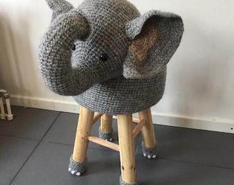 Animal stool Elephant Crochet
