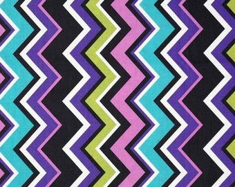 Fabric chevron patchwork Miller Chevy orchid