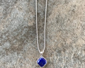 Cushion Lapis Lazuli Pendant