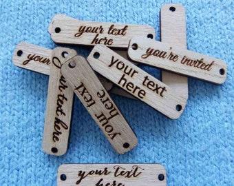 Logo Labels, Personalized tags, Logo tags, Logo Labels for handmade, Custom Logo tags, Custom wood tags, Logo Tags, Knitting Tags