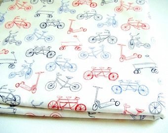 Michael Miller On the Go Children at Play Bicycle Fabric by Sarah Jane