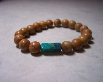 Tiger Jasper with Turquoise-2