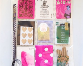 9 Pocket Pages, Set of 5 - Coupons, Artist Trading Cards, ATC, ACEO, Happy Mail, Pocket Letters, Snail Mail