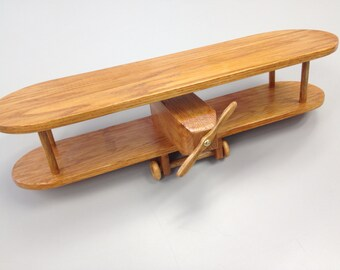 Solid Oak Biplane Shelf