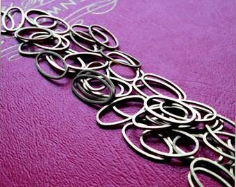 brass oval hoops - brass finding - brass link -  50 pieces - 8x16mm