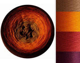 SKYE MANDALA YARN, Colour Change Gradient Cake Yarn, Gradient Yarn, Cake Yarn, Self Striping Yarn, Ombre Yarn, SkyeBazaar