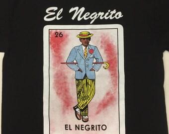 Mexican Loteria  El Negrito The Black Guy shirt Lottery