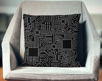 Circuit Pillow | Computer Science Gifts | Tech Pillow | Computer Geek Gifts | Nerd Gifts  | Electrical Engineer | Programmer Gift | Geekery