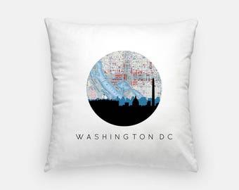 DC Pillow | DC Skyline Square Pillow | Washington DC pillow | Washington home decor | throw pillow | city skyline pillow