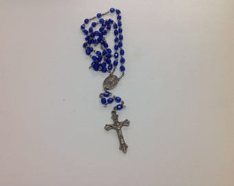 Blue rosary with st Mary
