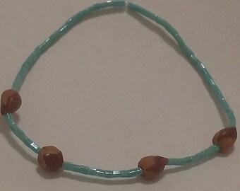 Navajo ghost bead, dried Juniper Berry
