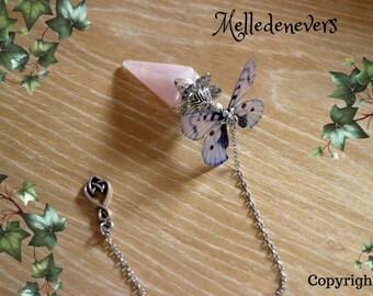 pendule pendulum quartz papillon butterfly ailes wings magic magie