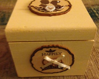 Happily ever after wedding ring box