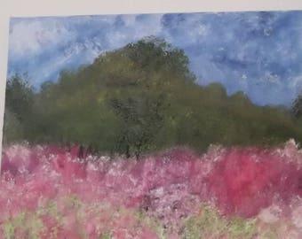 "Original Oil on canvas painting wlderness landscape signed by artist V. Anstey size 14"" X 14"""