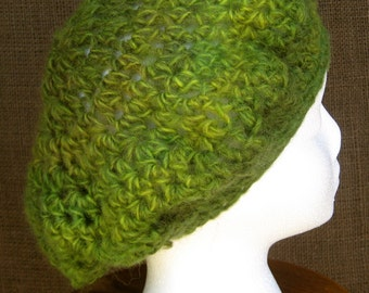 Hand Crochet Hat, Beret Slouchy,Handmade gift ideas