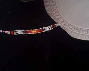 Cherokee made beaded bracelet