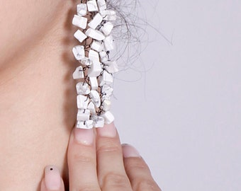 "Earrings ""Howlite"""