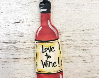 Love to Wine Burgundy Ornament
