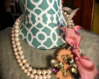 Pink and Pearls - Assemblage Necklace
