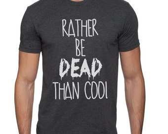 Rather Be Dead than Cool Nirvana T-Shirt for Men, Choose a color